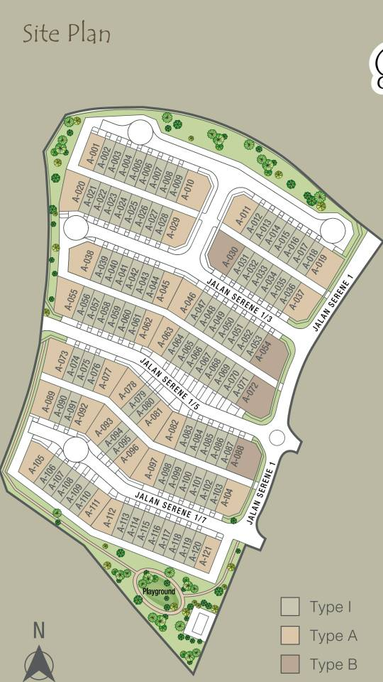 serene heights site plan